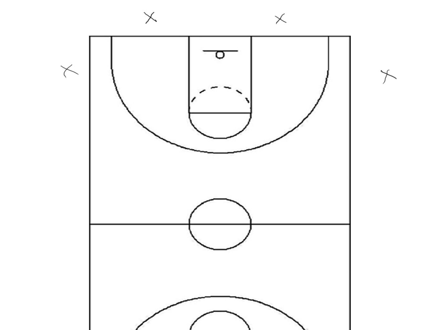 It is an image of Sly Printable Basketball Court
